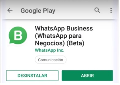 Aplicación WhatsApp Business